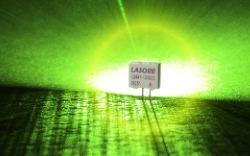 LASORB close up - green glow